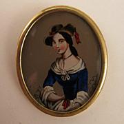 SALE Victorian Revival Lady Portrait Brooch