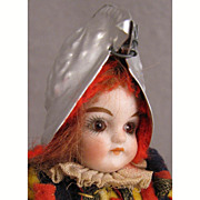 """SALE 6.25"""" Solid Dome Glass Eyed Bisque Dressed as Vatican Swiss Guard"""