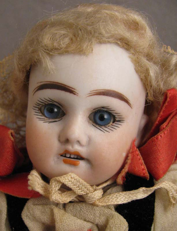 """Labeled 10"""" Bisque Doll w/ Compo Body & Original Regional Clothing"""
