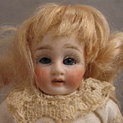 "SALE All Original 4.75"" Bisque w/ Sleep Eyes on 5 Pc. Compo Body"