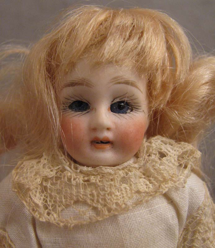 """All Original 4.75"""" Bisque w/ Sleep Eyes on 5 Pc. Compo Body"""