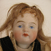 "5"" All Original Swivel Neck All Bisque Doll w/ Grapes"