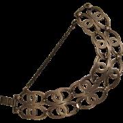 SALE Vintage Double Linked Sterling Silver Bracelet