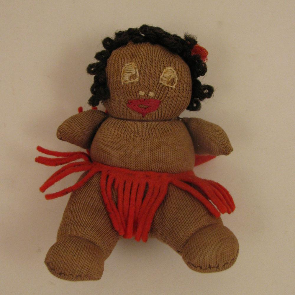 "c.1930s Black 4"" Sock Cloth Josephine Baker Baby Doll"