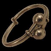 SALE Vintage Mexican Sterling Silver Bangle Bracelet