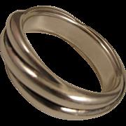 SALE Vintage Sterling Silver Twist Bangle Bracelet