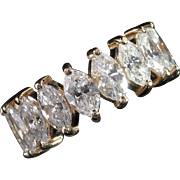 SALE VALENTINES! Spectacular 5.20ct Hi-End Marquise Diamond Eternity Band