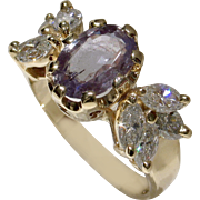 SOLD $11,850 Beautiful RARE 2.14ct Natural Alexandrite & Diamond Ring