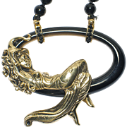 "SALE VALENTINE'S SALE! Rare ERTE ""LaBelle"" State 11 - Gold, Black Onyx. Highly Colle"