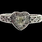 SOLD Lovely 14kt Heart-Shaped Light Yellow Diamond Ring