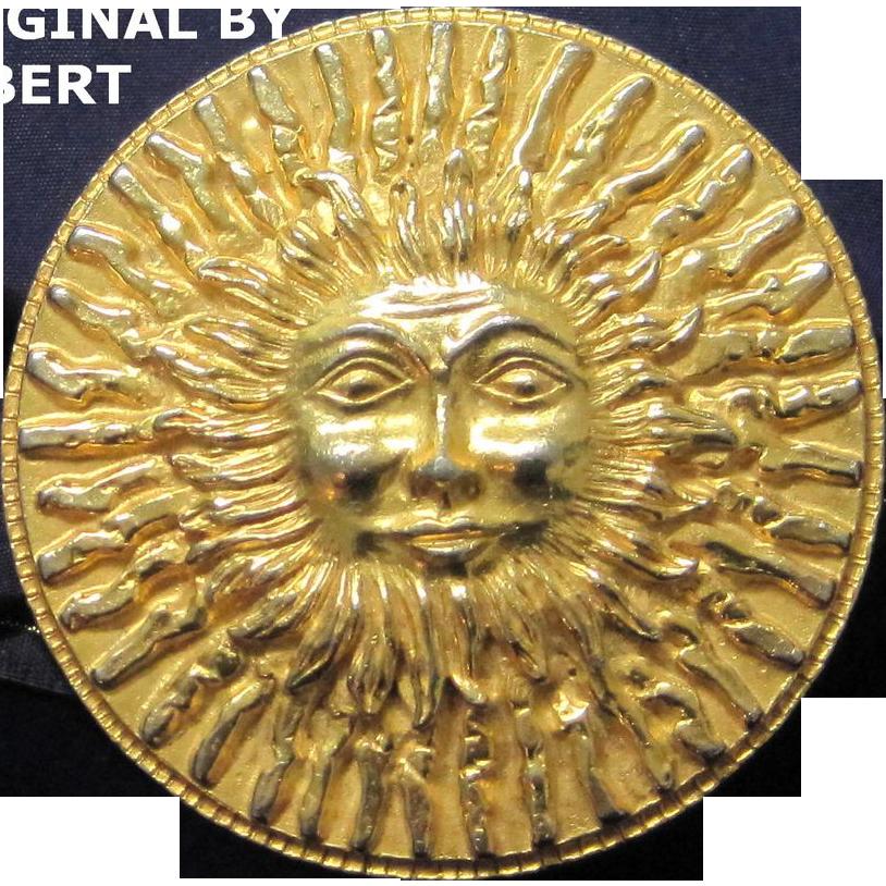 SALE Vintage Original by Robert smiling sun belt buckle