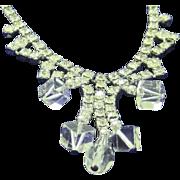 SALE SALE 50% Vintage crystal and ice rhinestone necklace
