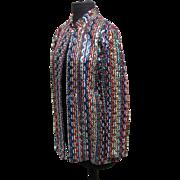 SALE Vintage Saks Fifth Ave. colorful sequined jacket