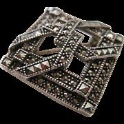 Vintage Judith Jack Marcasite Rhinestone pin