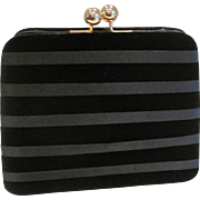 Vintage small black velvet evening purse from Lord & Taylor