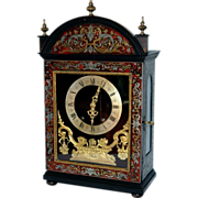 Antique French Boulle Marquetry Bracket  Clock