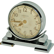 SOLD Waltham Art Deco Double Sided Partners Desk Clock