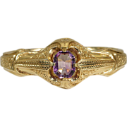 Elegant French Amethyst Bangle in 18k Gold c.1870