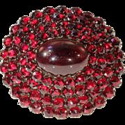 Eye-popping Large Victorian Bohemian Garnet Brooch Pin