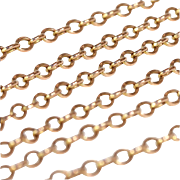 Antique 25 inch 9k Gold Chain with Barrel Clasp for Pendants