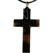 Antique Victorian Agate Cross c.1880