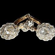 Vintage 18k and Platinum 1.86cwt Rose Cut Diamond Earrings, European c.1920