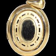 Antique Victorian 18k Embossed Locket