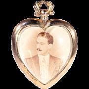 SALE Lovely English Heart Pendant Locket Frame in 9k Rose Gold