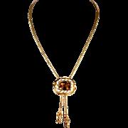 Imperial Topaz Necklace, Edwardian, 14.5+ Carat in 18k Gold