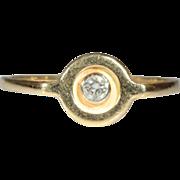 Vintage European 18k Diamond Ring c.1980