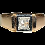 Vintage 18k European Retro Rose Cut Diamond Ring c.1940