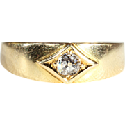 SALE Lovely and Lively Old European Cut Diamond Solitaire Low Profile Ring
