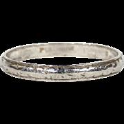 SALE Antique Edwardian Platinum Wedding Band Ring, Size 8.75 US