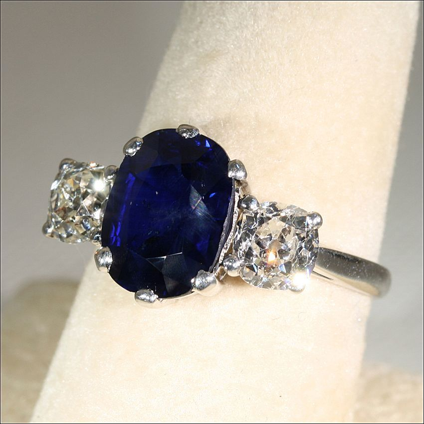 Roll over Large image to Vintage Sapphire Engagement Rings