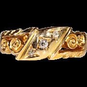 Antique Diamond Ring in 18k Gold, Hallmarked 1908