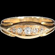 Vintage 18k Edwardian Diamond 5 Stone Ring Hallmarked Chester, England 1914