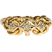 Antique Edwardian Double Love Knot Ring