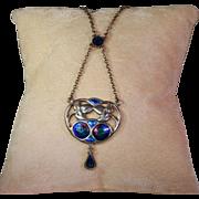 Antique Silver and Enamel Charles Horner Necklace Hallmarked 1907