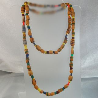 African Trade Beads Necklace. Antique.