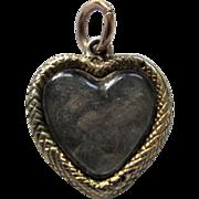 Antique 1830 Georgian 15ct Gold Sweethearts Puffy Heart Locket Charm Pendant