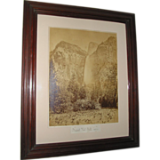 Civil War Era Photo of Bridal Veil Falls by Carleton E. Watkins