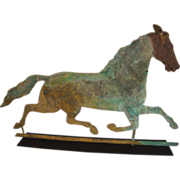 "Rare 19th Century Running Horse Weathervane Signed ""Harris"""