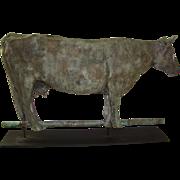 Antique American Folk Art Dairy Cow Weathervane