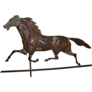 SOLD Running Horse Hollow Copper Weathervane