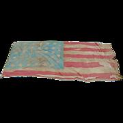 Historic Battle Scarred 34-Star 1861 US Civil War Battle Flag Provenance