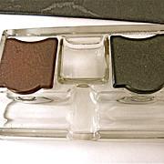 SALE Vintage Molded Glass & Bakelite Ink and Pen Holder Paragon Frank A. Weeks