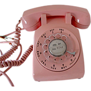 SOLD Vintage 1960's PINK Rotary Dial Telephone Bell System RETRO