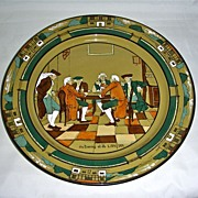 """13 1/2"""" Buffalo Pottery Deldare Ware Charger ~ Ye Lion Inn, Dated 1908"""