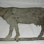 Heavy Sheet Metal Cow Weathervane, mid 20th Century