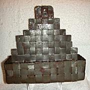 Late 19th Century Tin 10th Anniversary Wall Pocket